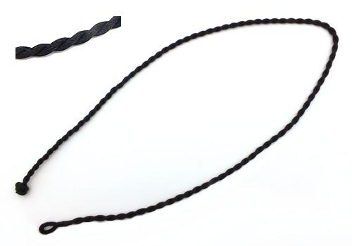 gedrehte Kordelkette mit Knebelverschluss ca. 46 cm schwarz