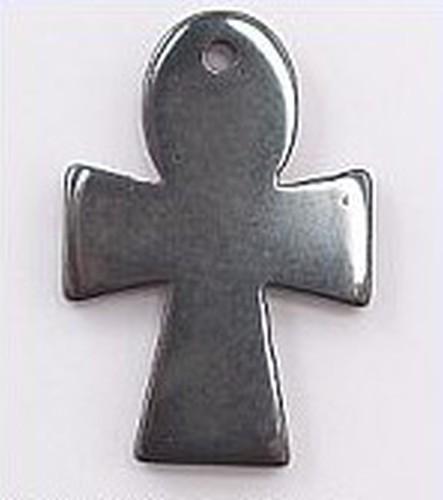 Hämatit Anhänger Kreuz 4 x 21 x 30mm 1Stk