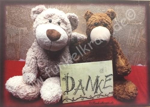 """Teddykarte """"Danke"""""""