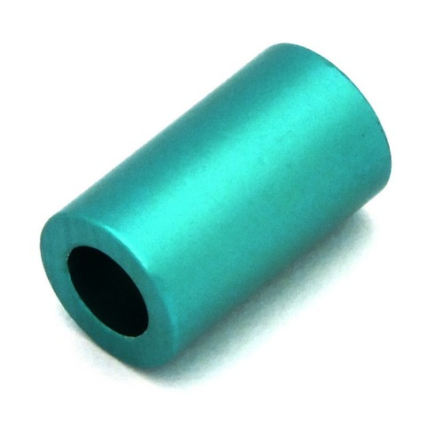 Loxalu® Beads Röhrchen ca. 10 x 6mm petrol 1Stk