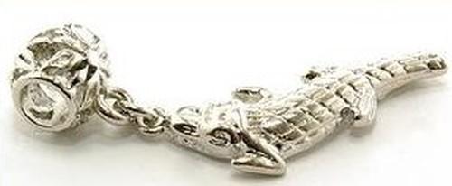 Wechselperle Dangel Krokodil ca.48 x 11mm silberfarben