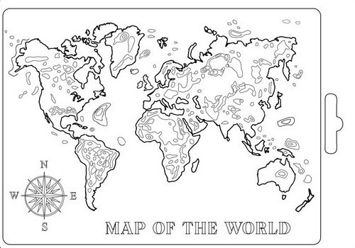 Stamperia Soft Mould A5 Map of the World