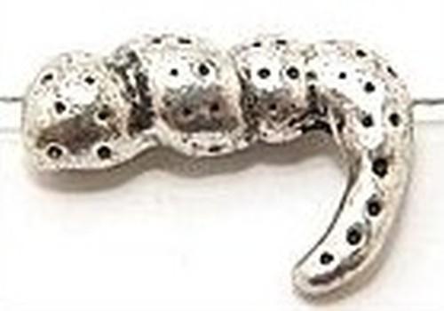 Funkelschlange - Schlangenschwanz gewickelt, ca.21 x 15mm 1Stk