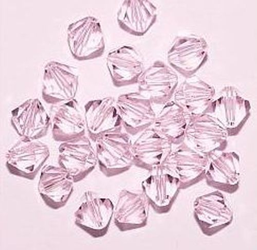 Bicone Glasschliffperlen ca. 6mm #04 rosa