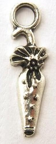 Metallanhänger Regenschirm ca. 23 x 6mm silberfarben 1Stk