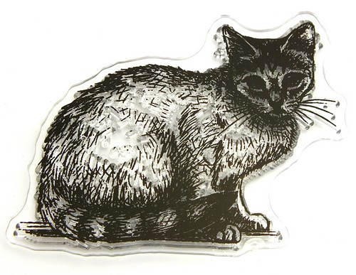 Stempel Katze Nelly ca. 60 x 46 mm1Stk