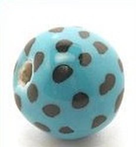 Keramikperle Katika ca. 18mm türkis