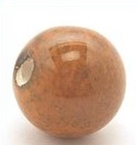 Keramikperle Pasipo ca. 20mm vogelei braun