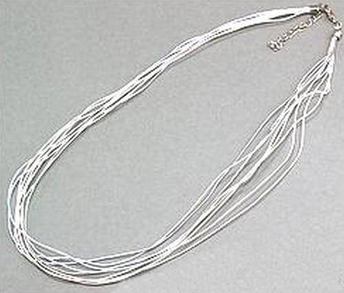 mehrsträngige Schmuckkordelkette ca. 51cm weiß