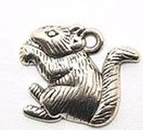 Metallanhänger Eichhörnchen ca. 19 x 16 x 2,5mm silberfarben