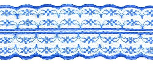 Tüllspitze Nostalgia ca. 5 cm breit blau 0,5m