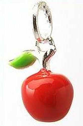 Metallanhänger Apfel ca. 25x12mm rot