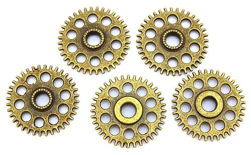 Steampunk Zahnrad Sprocket ca. 26 x 4mm antikfarben 1Stk