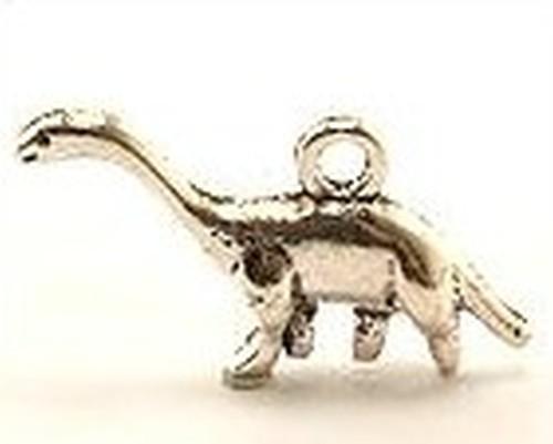 Metallanhänger Dino Lino ca. 24 x 14mm silberfarben