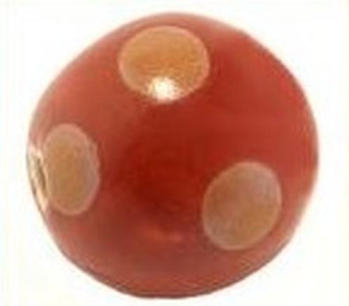 Keramikperle Kikubwa ca. 18mm rot-sand