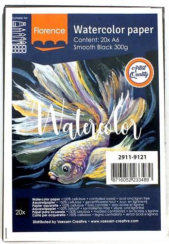 Aquarellkarten A6 smooth-black 20 Stk