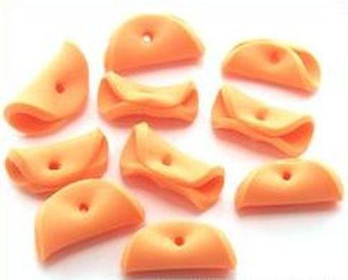 Papillon-Perlen Pancake ca. 15mm mandarine 10Stk