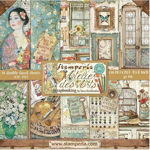 Stamperia Papierset Atelier des Arts 20,3 x 20,3 cm