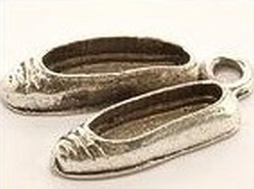 Metallanhänger Ballerinas ca. 13 x 20mm altsilberfar. 1Stk
