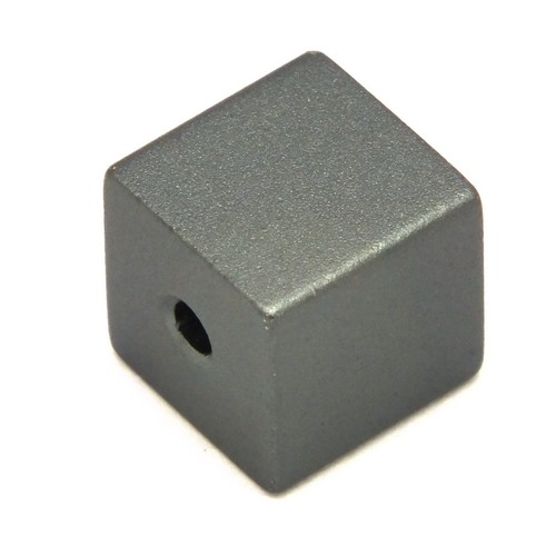 Loxalu® Beads Würfel ca. 8 x 8mm anthrazit 1Stk
