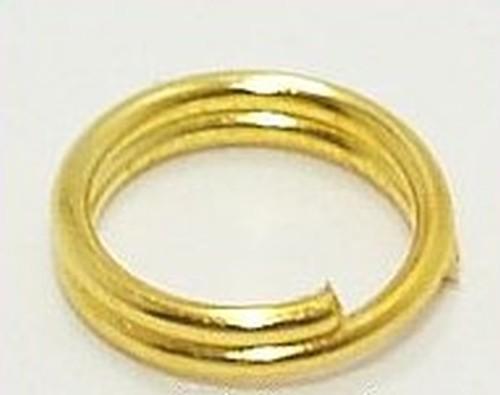 doppelte Biegeringe goldfarben ca. 6mm 50Stk