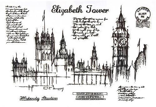 Stempel-Set LONDON ca. 10 x 15 cm1Stk