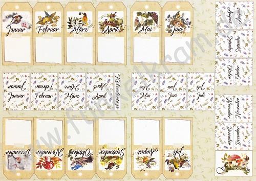 Cutout Sticker Bogen Kalendertags DIN A4 1Stk