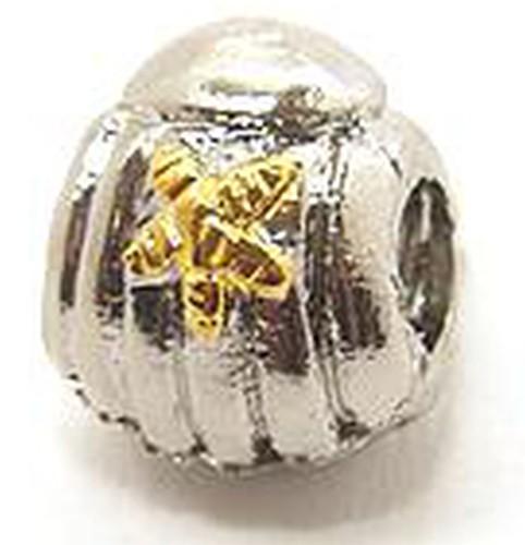 Wechselperle Seestern ca. 9 x 11mm silberfarben