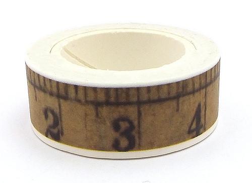 Rolle Washi Tape Maßband ca. 15mm breit 1Stk