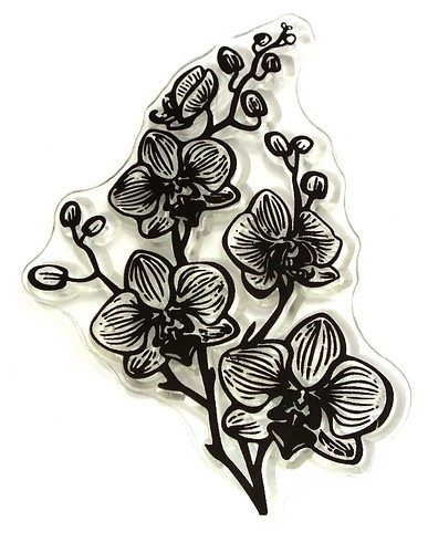 Stempel Orchidee ca. 50 x 80 mm 1Stk