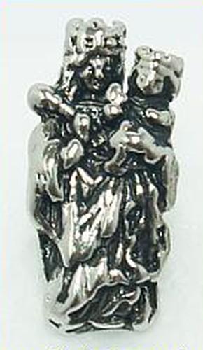 Wechselperle Madonna ca. 8 x 18mm altsilberfarben