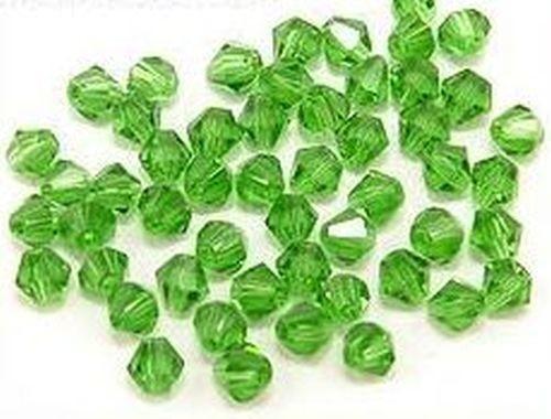 Bicone Glasschliffperlen ca. 4mm grün 50Stk
