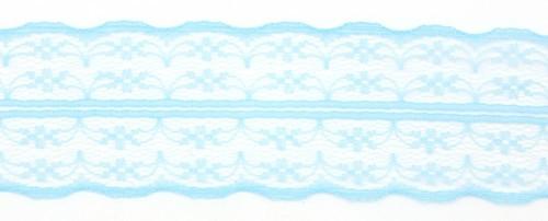 Tüllspitze Nostalgia ca. 5 cm breit türkis 0,5m