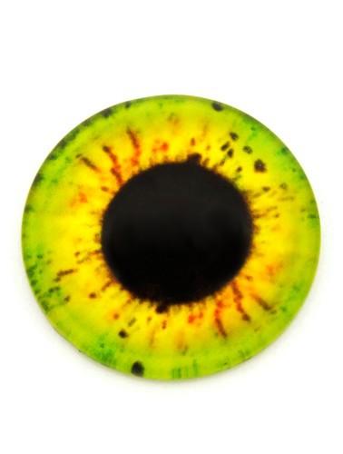 Einhornauge Z ca. 20mm gelbgrün