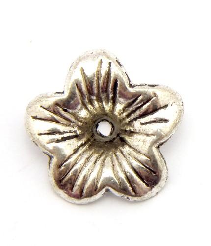 Perlkappe Petunia ca. 18mm altsilberfarben