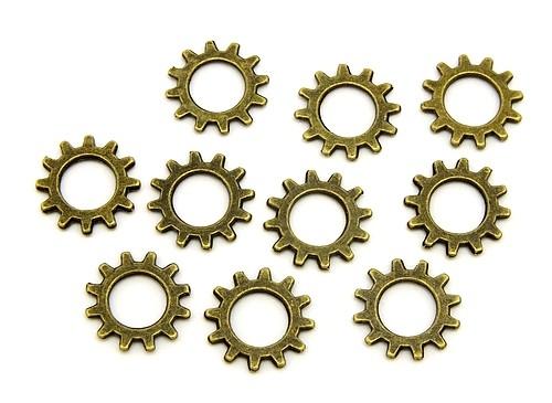 Steampunk Zahnrad ca. 12 x 1mm antikfarben