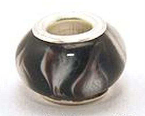 Wechselperle S12 ca. 13mm schwarz weiß
