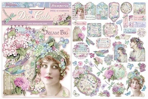 Stamperia Die Cuts Hortensia 45-teilig