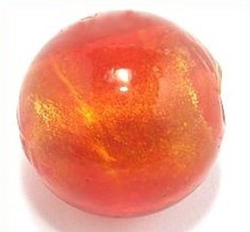 Goldfoil-Kugel, siam hell, ca. 17 mm 1Stk