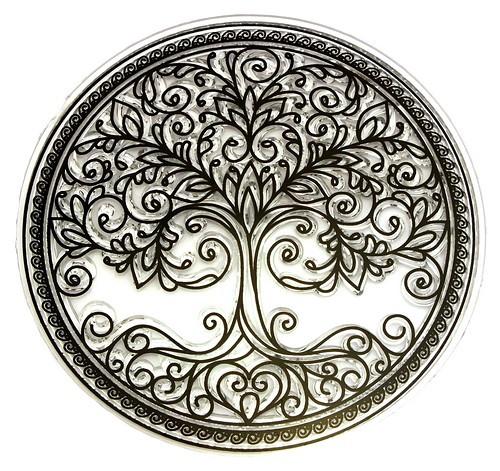 Stempel Mandala Lebensbaum 1Stk