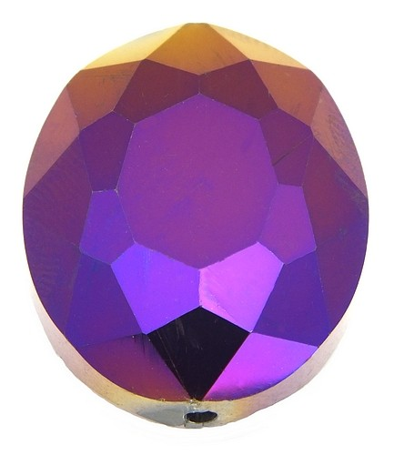 Glasschliff-Oval E ca. 24 x 20mm metal-purple