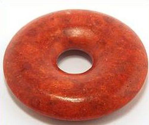 Koralle Donut ca. 40 x 40mm