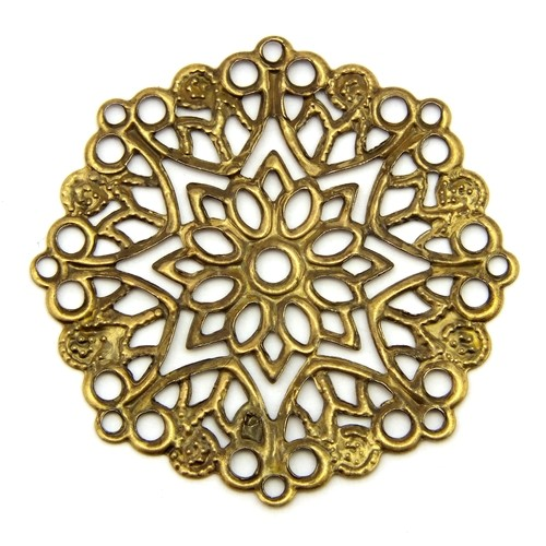 Steampunk Filigree Mandala II ca. 33mm antikfarben