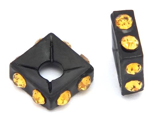 Bild: strassquadrate black enamel crystal ab