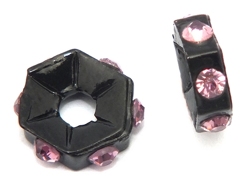 Bild: strassrondelle black enamel lila