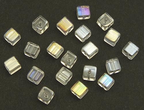 20 Glaswürfel ca 6mm #01 kristall
