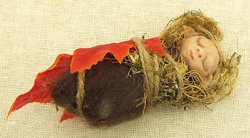 Elfen Baby Schmuck Anhänger aus Steamclay