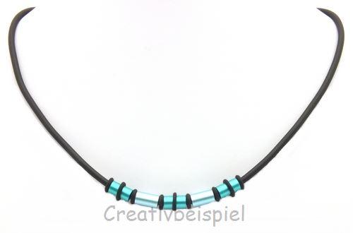 Bild: cb_kette_Loxalu®_roehrchen_türkis_mit_rubber-rings