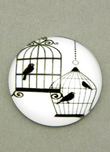 Bild: schwarz-weiß Cabochon Käfig D