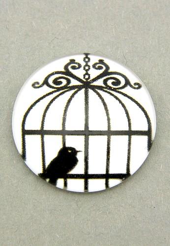 Bild: schwarz-weiß Cabochon Käfig F